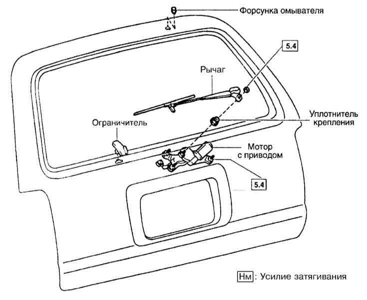 Типичная схема привода рычага