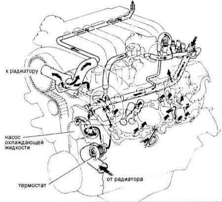 Схема охлаждения двигателя ауди 100 фото 740